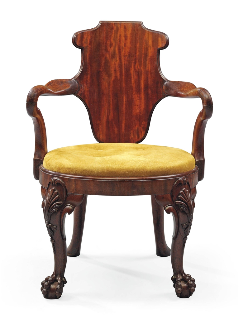 A george iv mahogany library armchair by gillows circa for Furniture 1825
