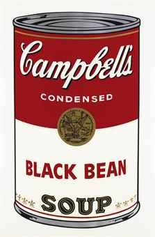 Andy Warhol Black Bean, from Campbell's Soup I (F. & S. II.44)