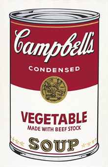 andy warhol Vegetable Made with Beef Stock, from Campbell's Soup I (F. & S. II.48)