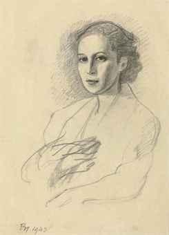 Etude pour Portrait de la princess Radziwill