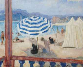 henri lebasque 1865 1937 cannes parasol bleu et tentes 20th century paintings christie 39 s. Black Bedroom Furniture Sets. Home Design Ideas