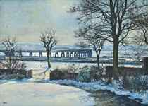 Tay Bridge from the artist's studio, Dundee