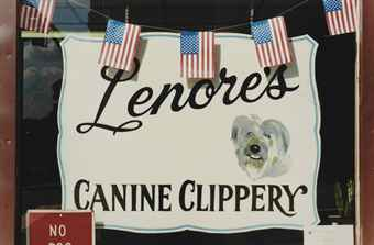 Sans titre, 'Stars and Stipes', (Canine Clippery), NY, 2001