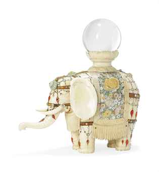 An Ivory and Shibayama Elephant