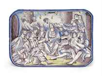 A DUTCH DELFT BIBLICAL PLAQUE