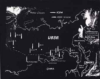 Map of Eastern U.S.S.R Missile Bases (Negative)