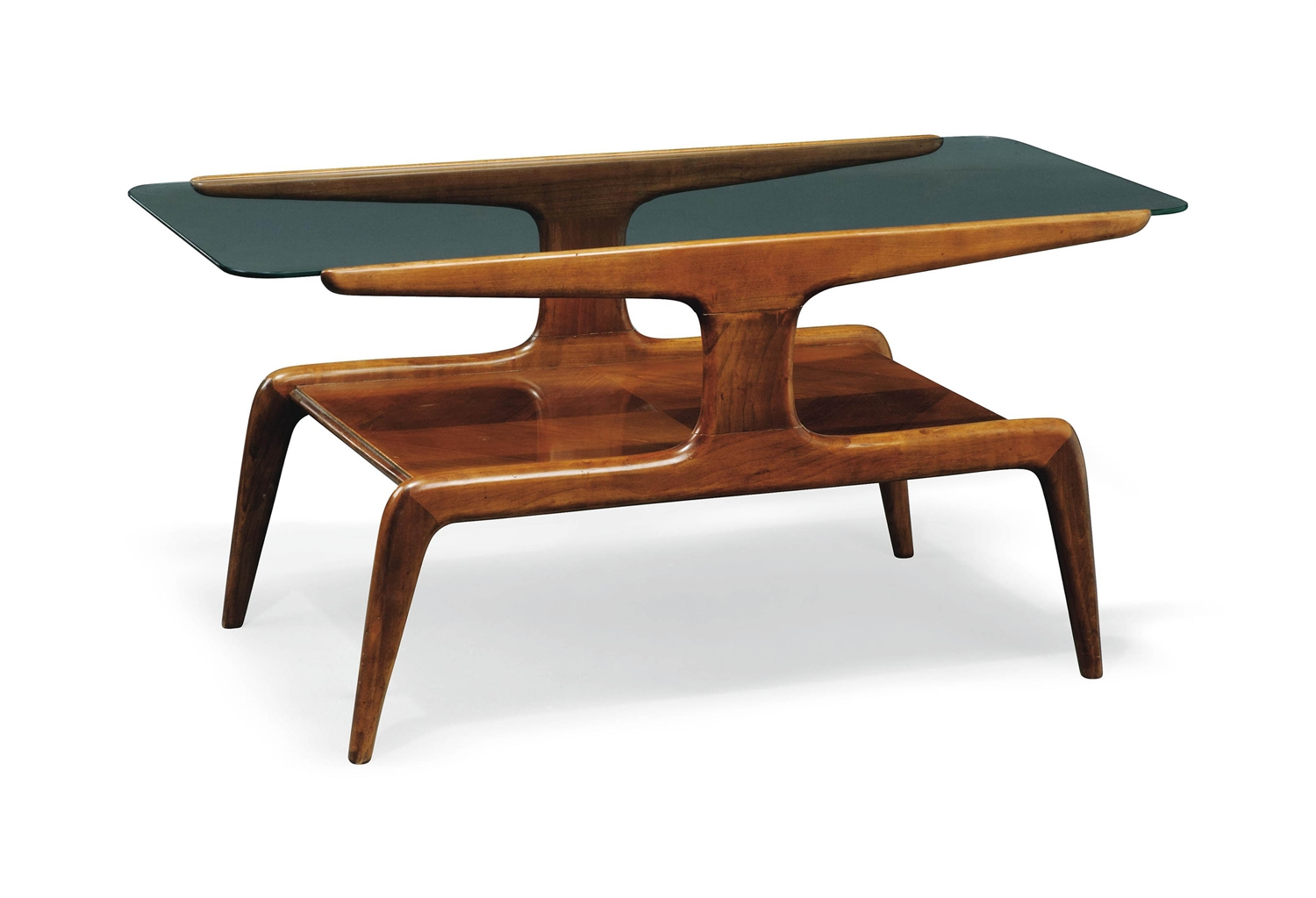A Gio Ponti Walnut And Glass Two Tier Coffee Table Circa 1950s 1950s Coffee Table Christie 39 S