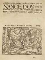 BLARRU, Pierre de (1537-1510) [Liber Nanceidos] Insigne Nanc