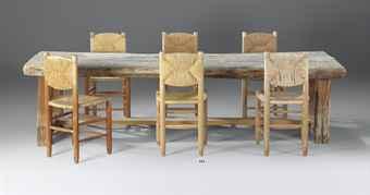 charlotte perriand 1903 1999 suite de six chaises le. Black Bedroom Furniture Sets. Home Design Ideas