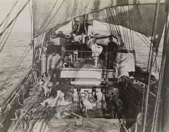 Aboard the 'Terra Nova,' c. 1911