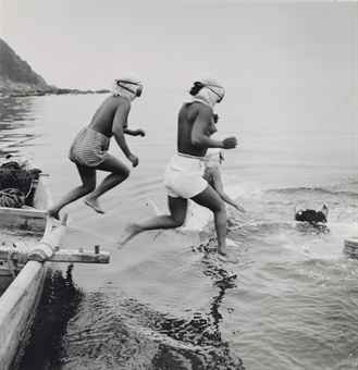 Diving for Agar-agar (Seaweed), Sagami Bay, Japan, c. 1949