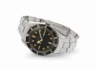 Rolex. A Fine and Rare Stainless Steel Automatic Wirstwatch with Center Seconds and Bracelet