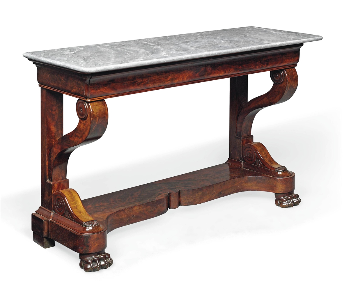A louis philippe mahogany console table mid 19th century for Table 6 pieds louis philippe