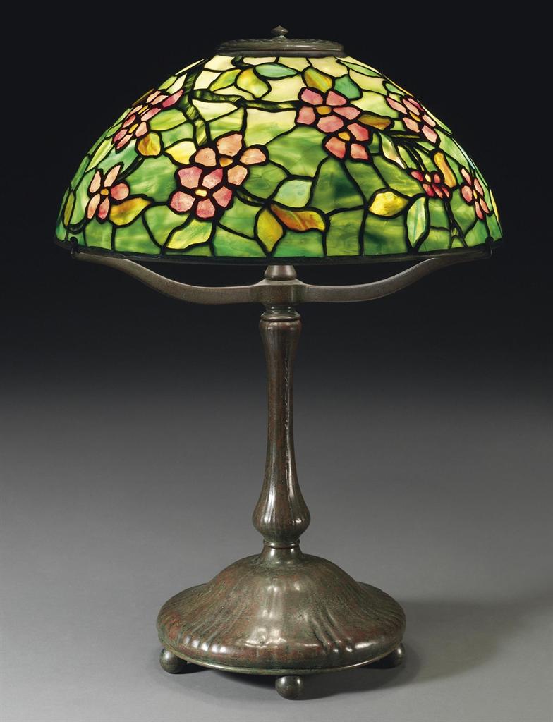 Tiffany Studios An Apple Blossom Table Lamp Circa