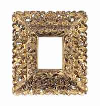 A SPANISH CARVED GILTWOOD PICTURE FRAME