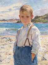 A boy on the beach