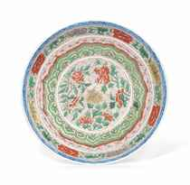 A CHINESE FAMILLE VERTE DISH