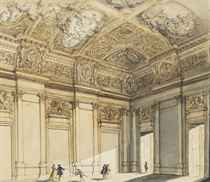 The interior of a palace