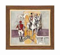 Untitled (Jockeys and Horses)