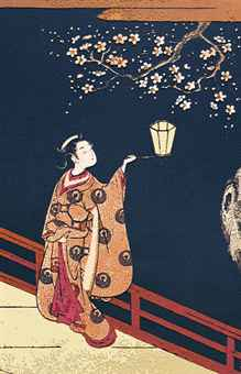 Plum Blossom Viewing at Night, after Harunobu