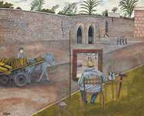 Churchill painting in Morocco