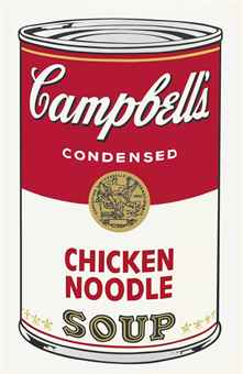 Andy Warhol Chicken Noodle, from: Campbell's Soup I (F. & S. II.45)