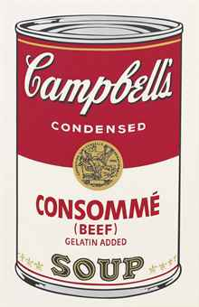 andy warhol consomme beef campbell's soup andy warhol screenprint