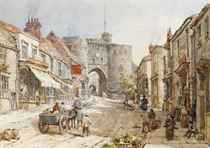 Figures before the Land Gate, Rye, East Sussex