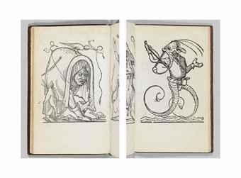 RABELAIS, François (ca 1494-1553). Les songes drolatiques de Pantagruel, ou sont contenues plusieurs figures de l'invention de maistre François Rabelais: & derniere oeuvre d'iceluy pour la recreation des bons esprits. Paris: Richard Breton, 1565.