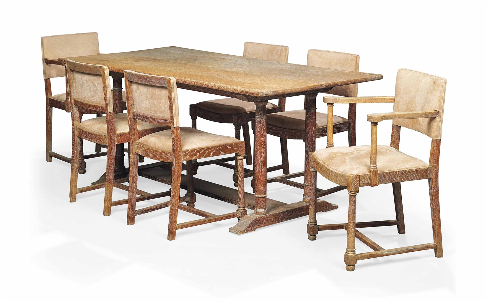 A heal 39 s limed oak dining table and chairs circa 1930s interiors auction christie 39 s - Limed oak dining tables ...