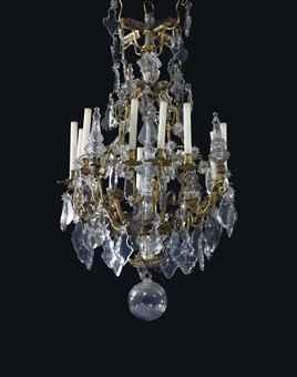 lustre cage de style louis xv xixeme siecle european ceramics glass chinese export art. Black Bedroom Furniture Sets. Home Design Ideas