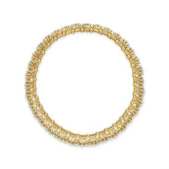 A DIAMOND AND GOLD NECKLACE, BY JEAN SCHLUMBERGER, TIFFANY & CO.