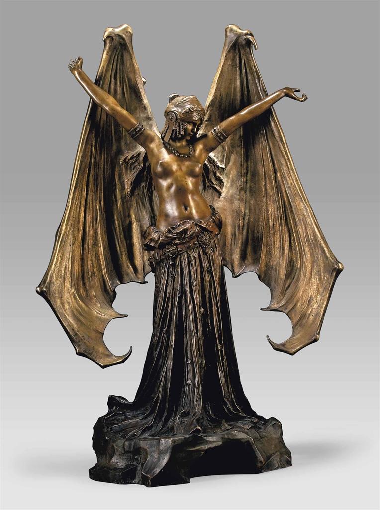 Agathon l onard 1841 1923 39 le vampire 39 39 la chauve - Chauve souri vampire ...
