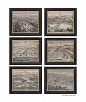 A set of seventeen views of country houses from Britannia Illustrata