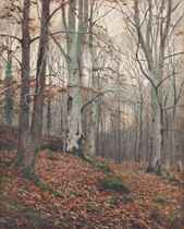Woodland scenes: Spring; and Autumn (illustrated)