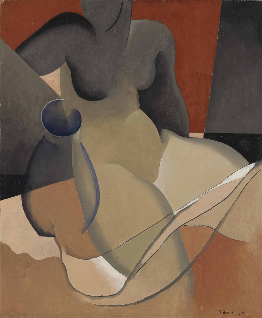 Pintura: Gustave Buchet (Swiss, 1888-1963)