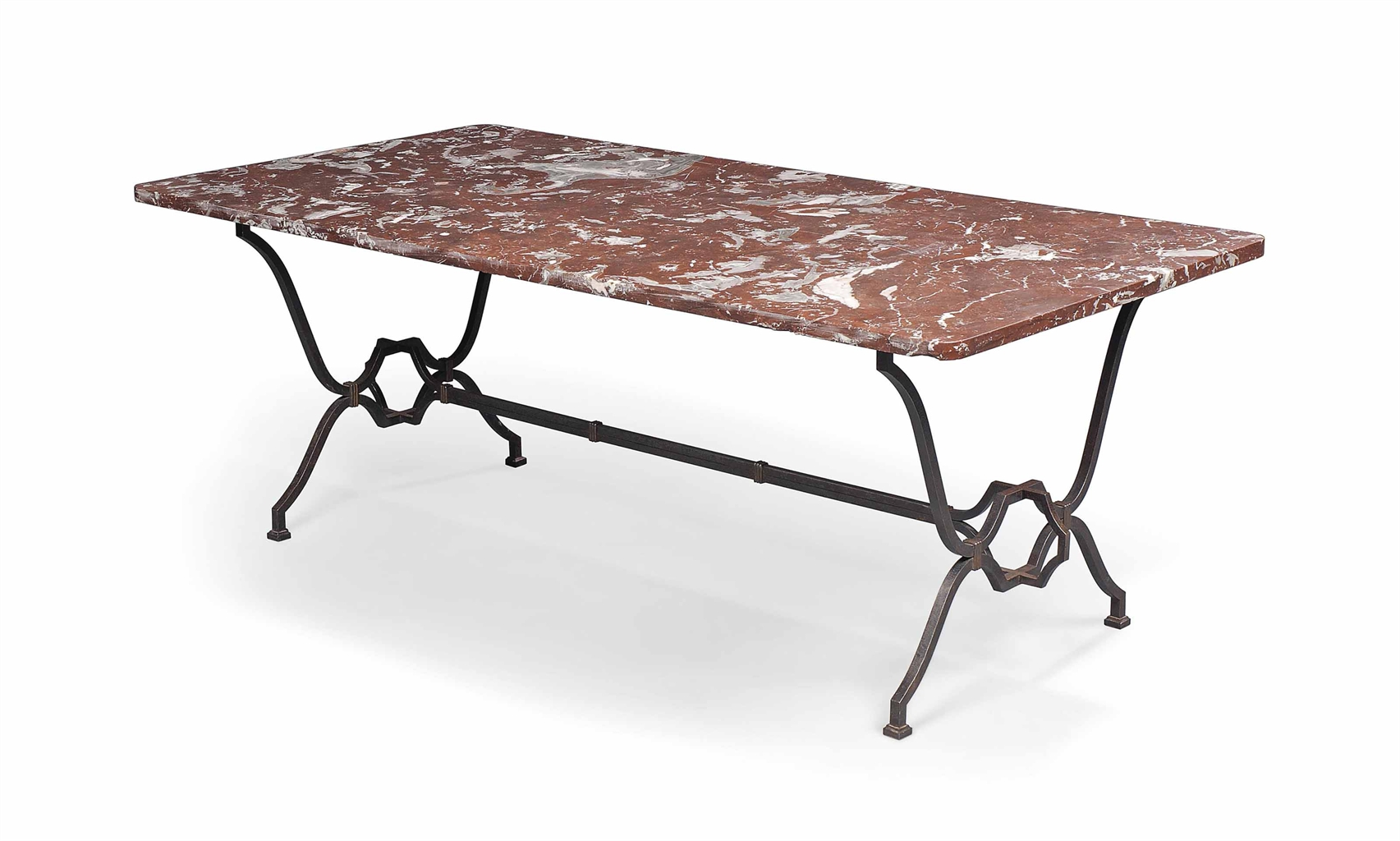 A FRENCH WROUGHT IRON AND MARBLE DINING TABLE MID 20TH  : d5680136a from www.christies.com size 1705 x 1024 jpeg 420kB