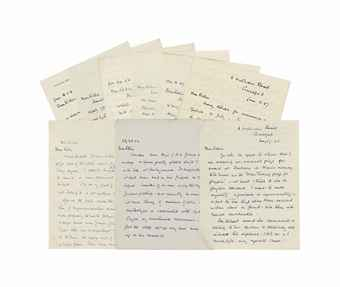 TURING, Ethel Sara (1881-1976, mother of Alan Turing). Series of 11 autograph letters to Robin Gandy, Guilford, 28 July 1954 - 11 June 1971 (most before 1959), altogether 29 pages, 8vo (2 letters dated 17 May and 26 May 1955 incomplete, lacking continuation leaves, occasional light soiling).