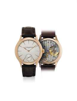 LAURENT FERRIER. A VERY FINE AND RARE 18K PINK GOLD AUTOMATIC WRISTWATCH
