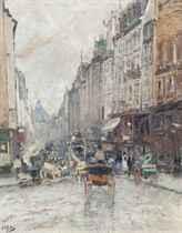 Rue de Seine, towards the Grand Palais, Paris