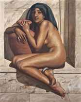 A nubian beauty at the baths