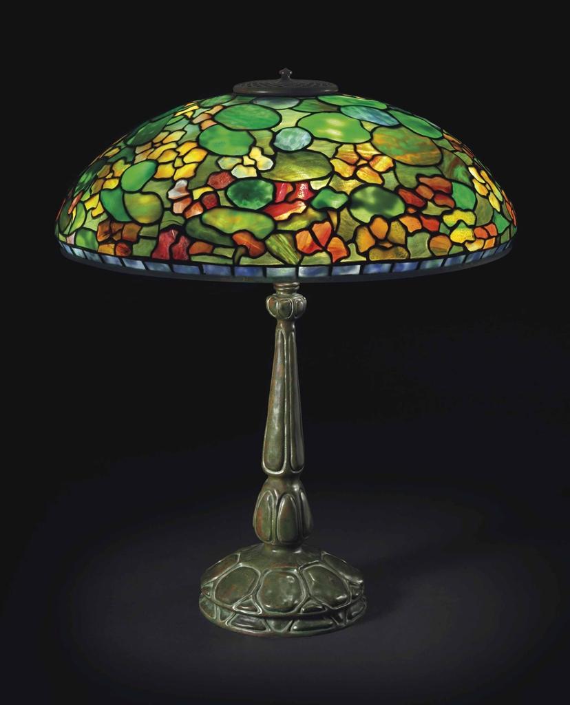 Antique Tiffany Chandeliers 1900: A 'NASTURTIUM' TABLE LAMP, CIRCA 1910