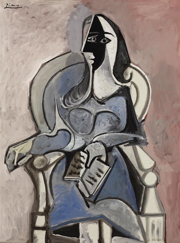 Pablo Picasso 1881 1973 Femme Assise Dans Un Fauteuil