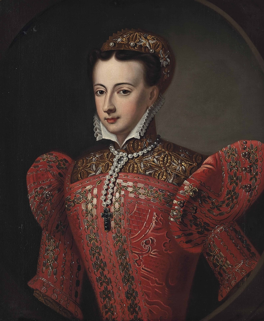 Scottish School 18th Century Portrait Of Mary Queen Of
