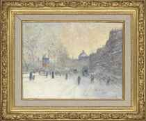 A Parisian boulevard in Winter