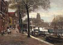 Figures on the quay, Dordrecht