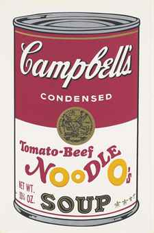 Andy Warhol Tomato-Beef Noodle O's, from: Campbell's Soup II (F. & S. II.61)