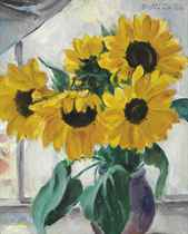Still Life with Sunflowers (recto); and Young Woman Holding a Child (verso)
