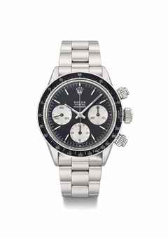 Rolex. A very attractive and historically important stainless steel chronograph wristwatch with bracelet