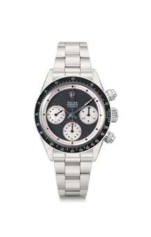 Rolex. An extremely rare and important stainless steel chronograph wristwatch with bracelet, original guarantee and box